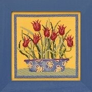 Tulips - Debbie Mumm - Beaded Cross Stitch Kit