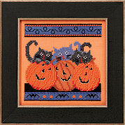 Jacks and Cats - Beaded Cross Stitch Kit