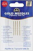 DMC Gold Tapestry Hand Needles Size 26, 4 per package
