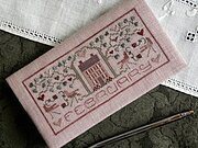 Febuary - Pocket Calendar Cover - Cross Stitch Pattern