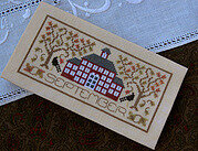 September - Pocket Calendar Cover - Cross Stitch Pattern