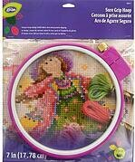 LoRan Sure Grip Embroidery Hoop - 7""