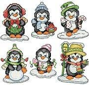 Penguins on Ice - Christmas Cross Stitch Kit