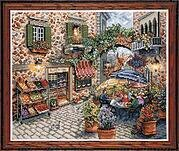 Sidewalk Cafe - Counted Cross Stitch Kit