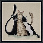 Kitty Trio - Counted Cross Stitch Kit