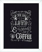 Love Chalkboard - Counted Cross Stitch Kit