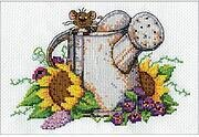 Watering Can Mouse - Cross Stitch Kit