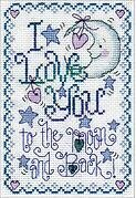 To the Moon - Cross Stitch Kit