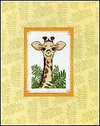 Giraffe Stitch and Mat - Cross Stitch Kit