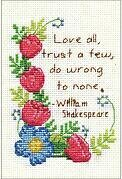 Love All Stitch and Mat - Cross Stitch Kit