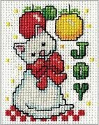 Joy Kitty Mini - Cross Stitch Kit
