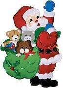 Santa and Friends Wall Hanging - Felt Applique Kit