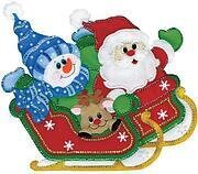 Sleigh Ride Wall Hanging - Christmas Felt Applique Kit