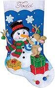 Busy Bunny Christmas Stocking - Felt Applique Kit