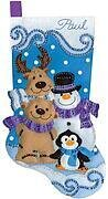 Winter Friends Christmas Stocking - Felt Applique Kit