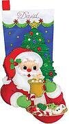 Cocoa and Cookies Christmas Stocking - Felt Applique Kit