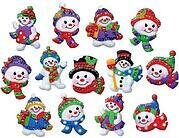 Jolly Snowman Christmas Ornaments - Felt Applique Kit