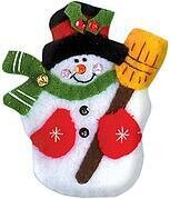 Snowman Christmas Ornament Felt Applique Kit