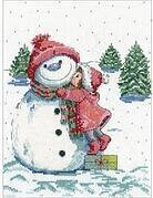 Red Hat Snowman - Cross Stitch Kit