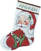 Winking Santa Stocking - Cross Stitch Kit