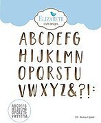 Blackboard Alphabet - Elizabeth Craft Designs Die