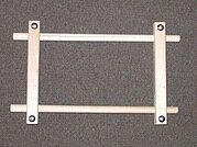 "Wood Split Rail Scroll Frame - 4.5"" x 9"""