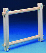 "Wood Split Rail Scroll Frame - 6"" x 12"""