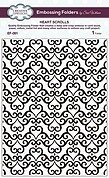 Sue Wilson Embossing Folder - Heart Scrolls