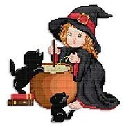 Witch - Cross Stitch Pattern