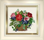 Flower Basket - Cross Stitch Pattern