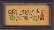 Halloween Rules - Brew Some Fun/Greet a Ghost - Cross Stitch