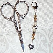 Bunny Love Scissors Fob