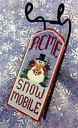 Acme Snow Mobile - Sled Ornament - Cross Stitch Pattern