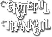 Elegant Thankful - Frantic Stamper Craft Dies