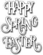 Elegant Happy Spring Easter Words Frantic Stamper Craft Die