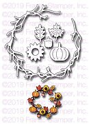Fall Icon Wreath - Autumn Frantic Stamper Craft Die