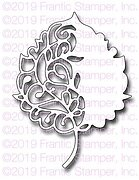 Scroll Birch Leaf - Autumn Frantic Stamper Craft Die