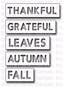 Reverse-cut Autumn Words - Frantic Stamper Craft Die