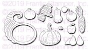 Fall Harvest Cornucopia - Autumn Frantic Stamper Craft Die