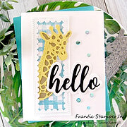 Peek Around Giraffe - Craft Die