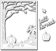 Fall Harvest Panel - Frantic Stamper Craft Dies