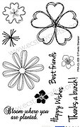 Pretty Posies - Frantic Stamper Clear Stamp Set