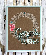 Snowflake Wreath - Christmas Frantic Stamper Clear Stamp