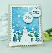 Tiny Tags Greeting - Christmas Frantic Stamper Clear Stamps