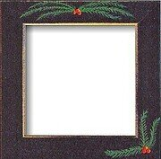 Pine Bough Black Folk Art Frame