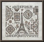 Eiffel Quaker - Cross Stitch Pattern