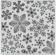 Hand Drawn Snowflakes Background - Cling Rubber Stamp