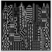 Urban Skyline Bold Prints - Background Cling Stamp