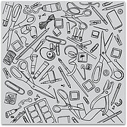Crafting Tools Bold Prints - Background Cling Stamp