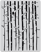 Birch Forest Peek a Boo - Background Cling Stamp